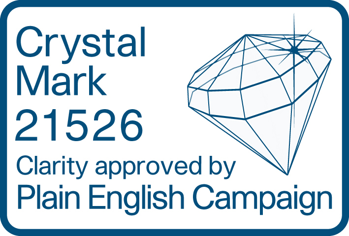Crystal Mark Plain English